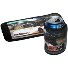 New can wrap allows for a bigger image surface. Great for a company logo or your favorite photo!